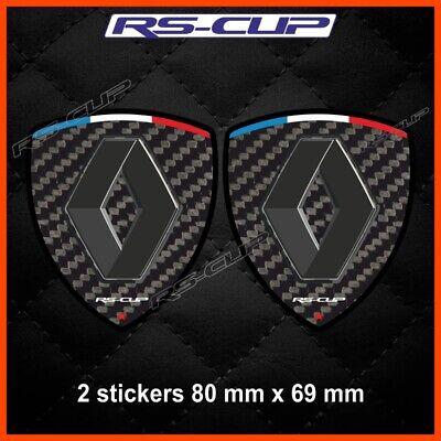 Gebraucht, 0050 Aufkleber CARBON-look RENAULT SPORT RS Megane Twingo Clio gebraucht kaufen  Versand nach Germany