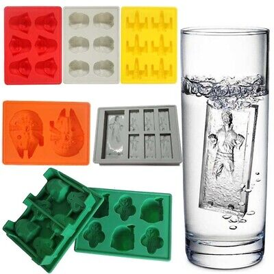 Star Wars Ice Cube Tray Silicone Mold Chocolate Whiskey Mold Han Solo Easy Pop