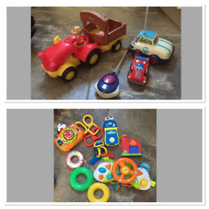 Assorted Toddler Toys - inc Fisher Price Tractor, Vtech Camera