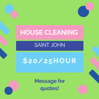 Openings for house cleaning in Saint John