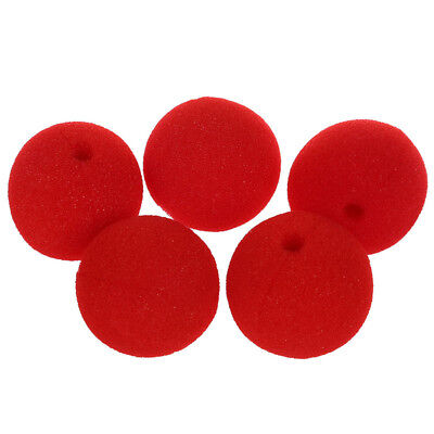 5 x Red Foam Clown Nose Costume Party - Red X Cosplay Kostüm