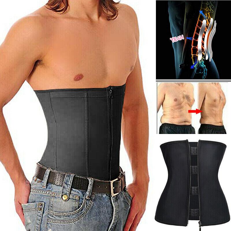 Men's Posture Corrector Belly Compression Zipper Shapers Sli
