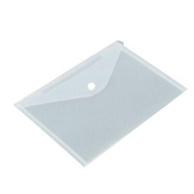 12pcs/set Transparent Plastic A5 Folders File Bag Document Hold Bags Folder B4R7