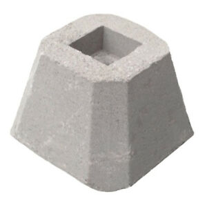 Eleven 4-inch Concrete Post Anchors