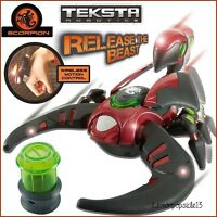 Teksta Scorpion Red Robotic Electronic Interactive Wireless Motion Toy - teksta - ebay.co.uk