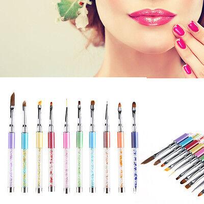 UV Gel Pen Nail Art Carving Pen Brushes Acrylic Handle Salon Pencil DIY Tools