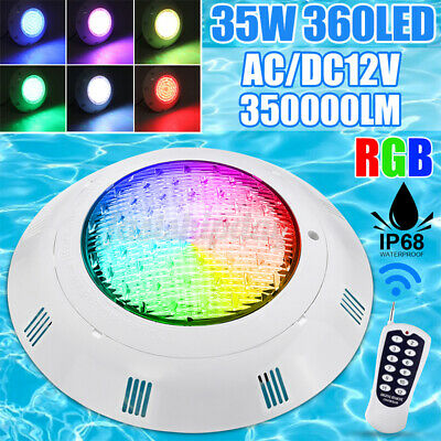360LED RGB Underwater Swimming Pool Light IP68 Remote Control Fountain Light L