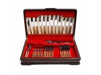 Sanenwood Cutlery Set 35 pieces In Wood Canteen Box