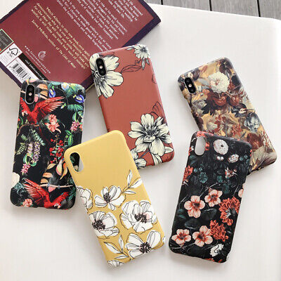 Retro Flowers Plants Soft Cases Covers For iPhone 11 Pro XS MAX XR X 7 8 Plus