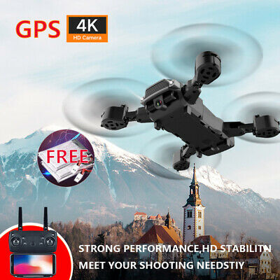 WIFI RC GPS Drone 4K Camera HD Dual Camera Quadcopter FPV Foldable Aircraft