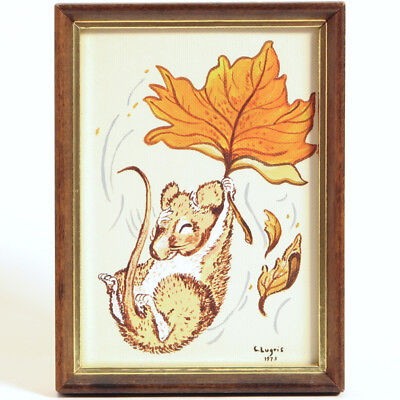 Painting by CAROL W. LUGRIS Mouse with Leaf