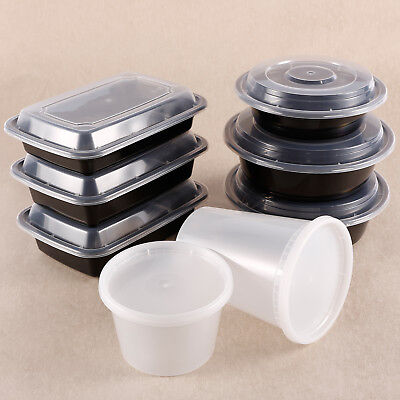 Microwave Take Out To-Go Container Plastic Disposable BPA Free Crisper Lunch Box](Takeout Box)