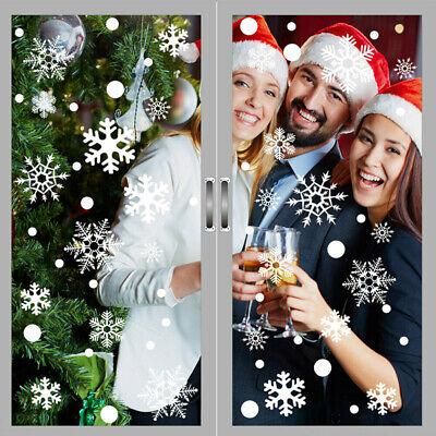 48Pcs Snowflakes Christmas Window Sticker Winter Xmas Wall Decal Stickers -