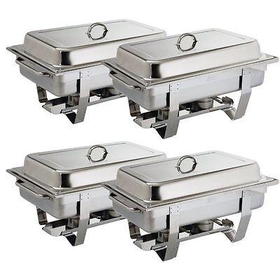 4 x OLYMPIA CNS Profi EDELSTAHL Chafing Dish inkl. 4 x 1/1 GN Speisenwärmer MDC