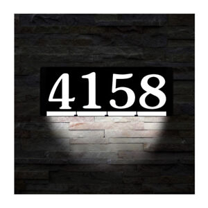 HOMIDEA Backlit LED House Number and Sound Activated Overhead Li