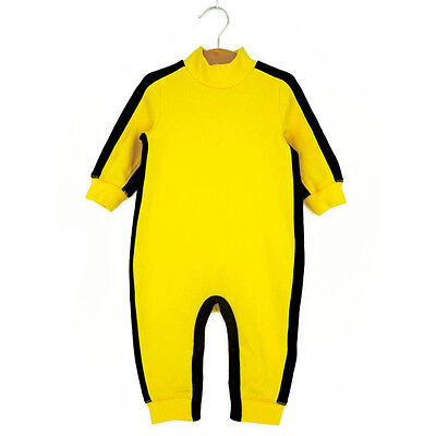 Bruce Lee Style Infant Baby Childen Bodysuit Outfit Romper - Bruce Lee Outfits