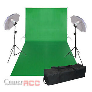 3x6m Studio Photography Chromakey Green Screen Background Backdrop Lighting Kit - <span itemprop=availableAtOrFrom>Warsaw, Polska</span> - Zwroty są przyjmowane - Warsaw, Polska