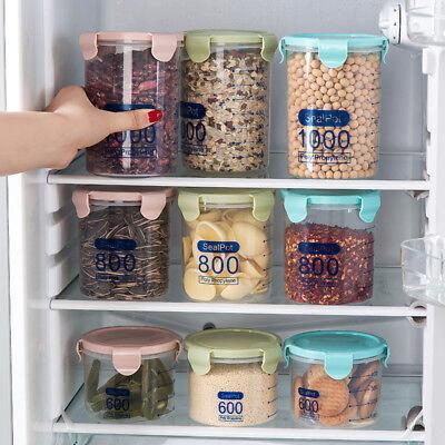Food Storage Organizer (Plastic Pantry Organizer Bins Kitchen Plastic Jar Food Storage Tank Sealpot Box)