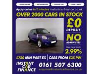 Mini Mini Paceman Cooper Coupe 1.6 Manual Petrol BAD / GOOD CREDIT CAR FINANCE