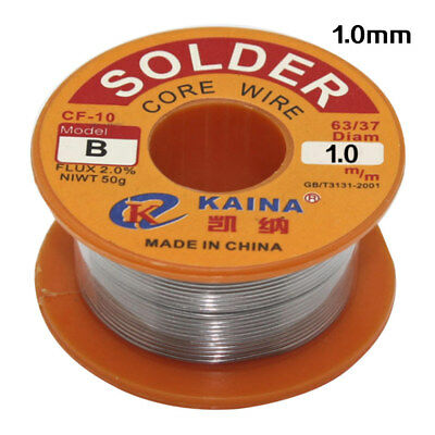 6337 1mm Rosin Core Solder Tin Lead Line Flux Soldering Welding Iron Wire Reel
