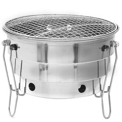 Stainless Steel Barbecue Charcoal Bbq Grill Foldable Portable Cooking Outd V4N5