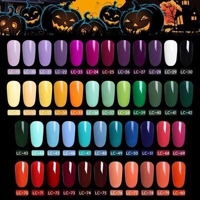 LILYCUTE UV Gel Polish Halloween Pumpkin LED Lamp Nail Art Soak Off Gel Nail 5ml (Uv Halloween)