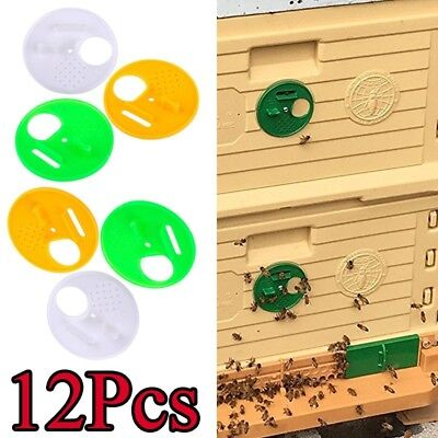 12pcs Hive Entrance Gates Beekeepers Disk Fit Top Barmating Hives Round Hole