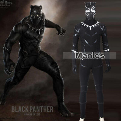 Black Panther T'Challa Cosplay Captain America 3 Civil War Costume Outfits - Captain America Costume Cosplay