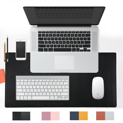 31.5x15.7 Pu Leather Desk Pad Waterproof Laptop Mat Desk Mouse Pad Black Large