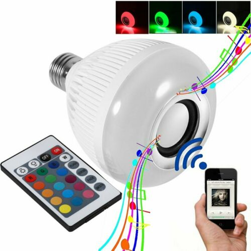 LED RGB Color Bulb Light E27 Bluetooth Control Smart Music A