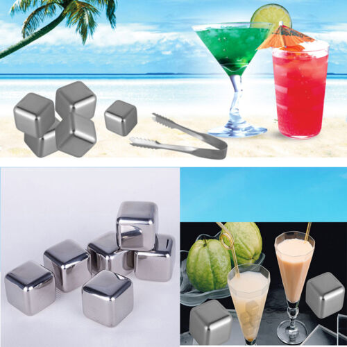 New Utility Stainless Steel Reusable Ice Cubes ...