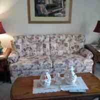 Chair and matching love seat sofa bed