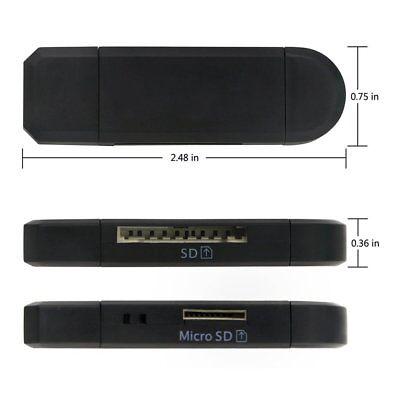 Купить Micro USB OTG to USB 2.0 Adapter SD/Micro SD Card Reader With Standard USB NEW