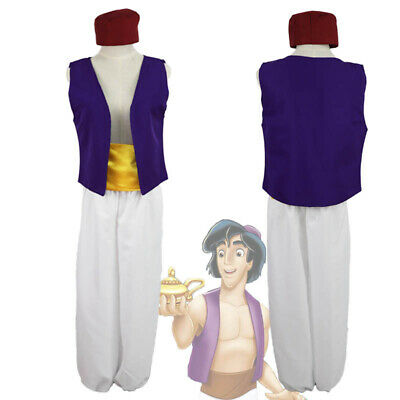 Anime Costume For Men (Animation Aladdin Prince Cosplay Costume Men Clothes uniform Fancy Dress)