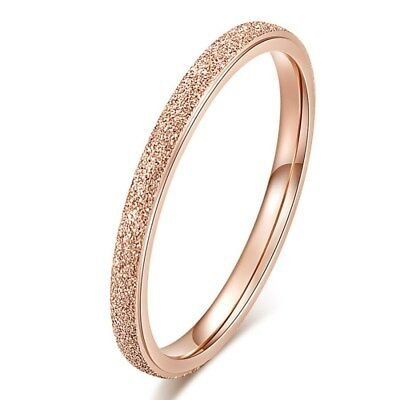 18K Rose Gold Ultra-fine Tail Ring Titanium Steel Women