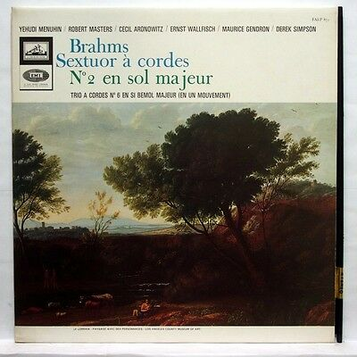 Asdf 871   Gendron Menuhin Wallfisch   Brahms Sextet  2 Trio  6 Emi Stereo Ex