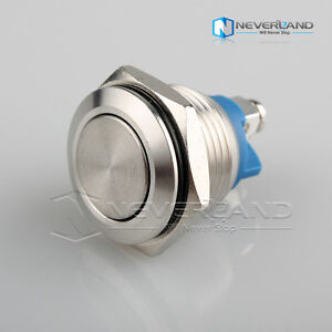12V 16mm Start Horn Button Metal Waterproof Push Button Switch High Flush New