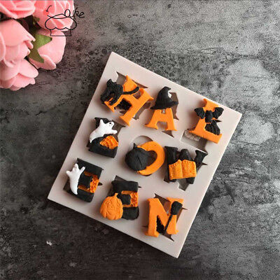 Pumpkin Alphabet Letters Silicone Baking Mould Halloween Cake Fondant Molds DIY - Halloween Mould