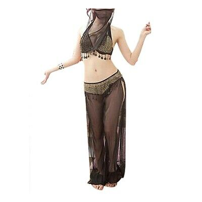 Frauen tragen Tanz Bauchtanz Kostueme mit Schleier - Frauen Tragen Kostüm