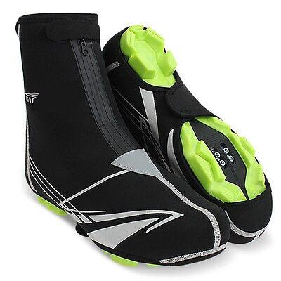 Pro Waterproof Cycling Shoe Covers Lock Bike Overshoe Fleece Thermal Reflective