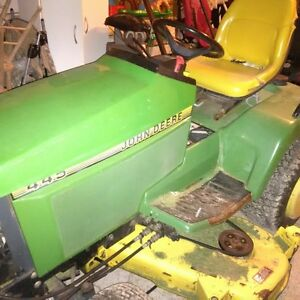 john deere 425 and snow blower and sweeper