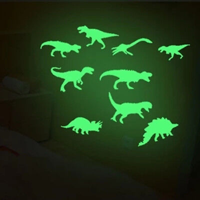 9 Pcs Glow In The Dark Dinosaurs Kid Toys for Child Stickers Ceiling Decal (Glow In The Dark Toys For Kids)
