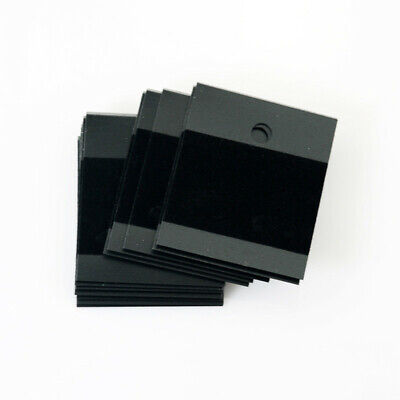 100 Pcs Black Velvet Jewelry Earring Studs Display Holder Hanging Cards Flocked