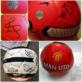 3 x Signed Manchester United Footballs