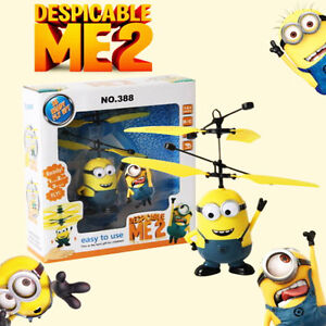 Flying Minion Sensor +Remote Control Mini RC Helicopter Toys