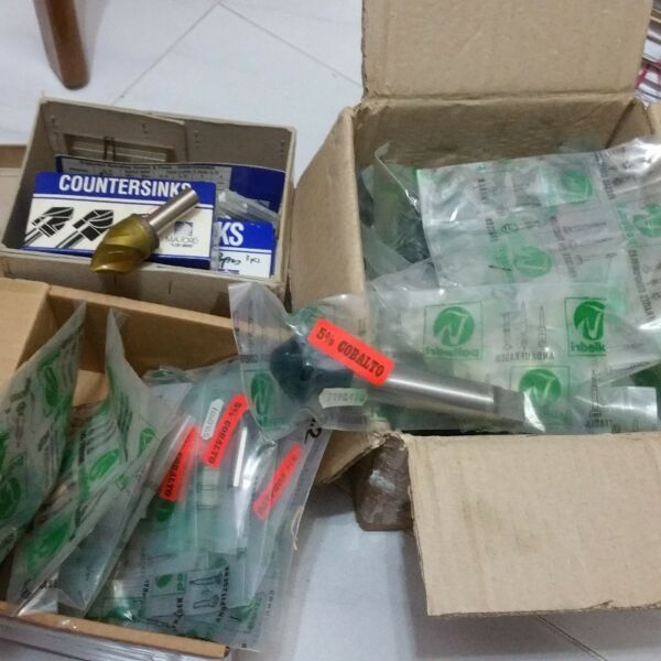 Countersink various sizes various angles nt drills reamers carbide taps dies