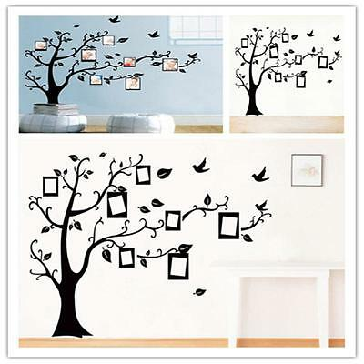 DIY Kith and kin Tree Photo Frame Quotes Wall Sticker Decal Art Living Room Home Decor