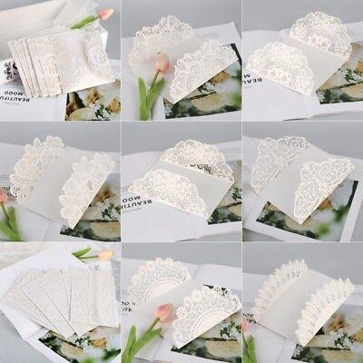 10Pcs Wedding Invitation Card Kit Various Laser Cut Envelopes Seals Party Custom Blank Wedding Invitation Kits