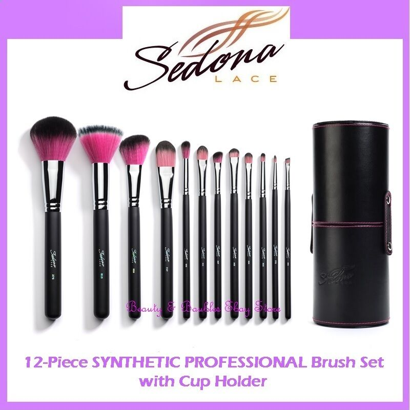 Sedona Lace 12 Piece Synthetic Professional Makeup Brushes w