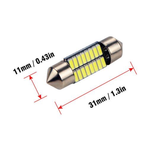 Package:1pcs 31mm:31/36/39/41mm 4014 16SMD LED Festoon Dome Reading Light License Plate Lamp White